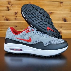 Men's Nike Golf Shoes Air Max 1 Particle Grey New
